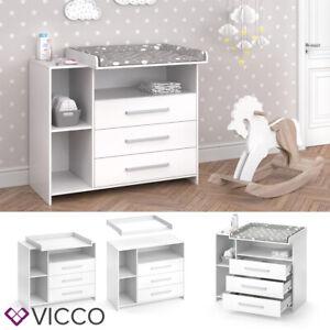 VICCO Cassettone con fasciatoio OSKAR Scaffale con fasciatoio Mobile per bebè Co
