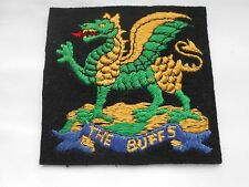 old silk on cotton felt  THE BUFFS   military patch
