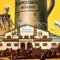 PAULANER THOMAS BRÄU Blech Türschild München MAKELLOS Bier Brauerei  OKTOBERFEST