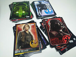STAR WARS ROGUE ONE TRADDING CARDS - LOTE DE 99 - TOPPS + REGALO
