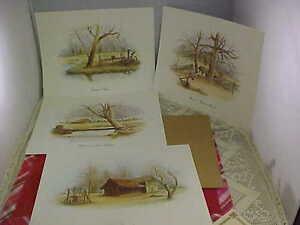 E. Howard Burger Prints Treasured Memories Set of 4 Prints 1983 Signed By Artist