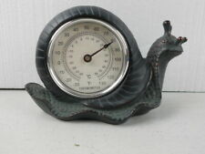 Decorative Garden Snail Thermometer - Resin with Copper Patina