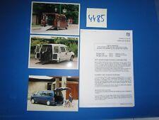 N°4485 /  GRUAU communiqué et 3 photos véhicule pour handicapé