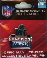 Patriots Super Bowl LI Champs Pin W/ Logo 51 NFL New England Champions 2017 W