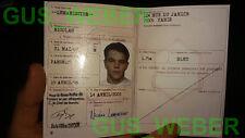 The Bourne Identity supremacy Ultimatum FRANCE passport prop Jason BOURNE NEW!