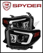 Spyder Toyota Tundra 2014-2016 Projector Headlights Light Bar DRL Black