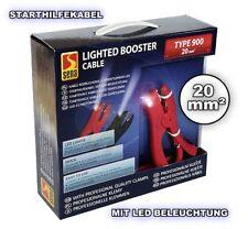STARTHILFEKABEL MIT LED LICHT ÜBERBRÜCKUNGSKABEL 900 AMP STARTERKABEL 20mm² PKW
