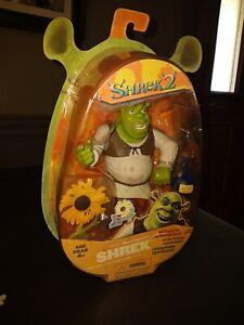 Shrek 2 Action Figure w/ Slammin Arm & Swamp Gas Feature Hasbro New