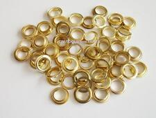"""1/2"""" x 100pc  BRASS PLATED GROMMETS ~ Tarp - Tent - Awnings ** Free Shipping **"""