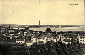 1915 Stempel SCHLESWIG auf Feldpostkarte mit Totalansicht n/ Cassel Wilhelmshöhe