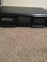 SONY TC-WE305 Dual Cassette Deck Recorder For Parts Only