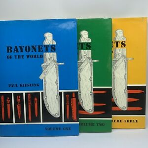 Bayonets Of The World By Paul Kiesling Illustrated Reference Book Vol. 1,2,3