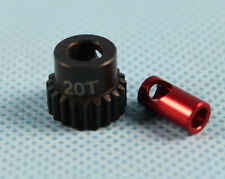 "GDS Racing 48P 20T Pinion Gear Steel For 1/8"" 3.175mm and 5mm shaft"