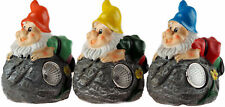 Set of 3 Small LED Solar Light Up Gnomes