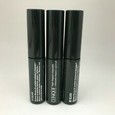 CLINIQUE High Impact Mascara ~ 01 Black ~ Travel Size .14oz/3.5ml  (LOT OF 3)