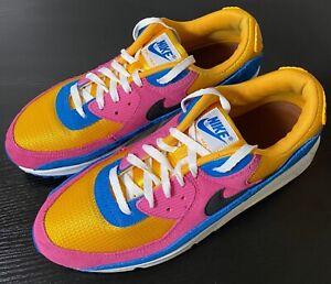 Nike Air Max 90 Multicolor Suede CJ0612-700 men's low top athletic sneakers 11