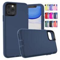 For iPhone 11 Pro Max XS XR 8 7 6 Plus SE 2 Liquid Rubber Heavy Duty Case Cover
