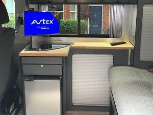VW TV Bracket Adapter T5 T6 TRANSPORTER  B Pillar *Camper Van Mount Anodised