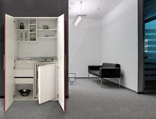 Cucina Armadio Mini Cucinino Ufficio Blocco Bianco Rosso Respekta