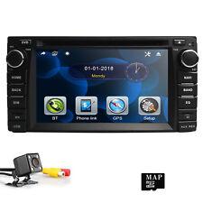 Car Stereo Bluetooth GPS Navi DVD For Toyota FM AM MP5 Player Audio Head Units
