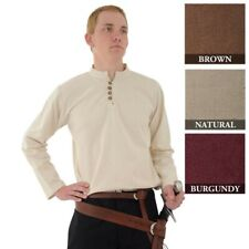 Long Sleeve Heavy Cotton Shirt with buttoned neck. Ideal Stage,Costume & LARP