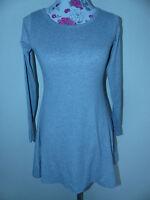 Neues Damen Kleid Minikleid T-Shirt Longshirt Shirt Gr. S Grau Melanche NEU/OVP