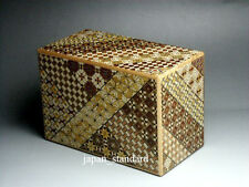 36 Step Japanese Puzzle Box Secret Yosegi Hakone 6 Sun Trick Opening Crafted B