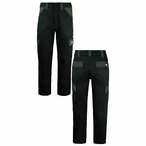 Dickies Everyday Work Wear Trousers Black Grey Mens Bottoms ED24 7R BLACK GREY