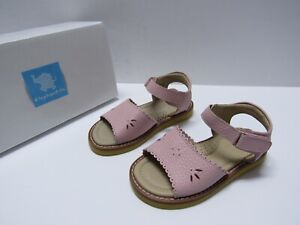 Elephantito Classic Sandal with Scallop Pink Leather Girls size 8 M