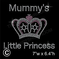 Mummy's Little Princess Rhinestone Transfer Hotfix Ironon Motif with a Free Gift