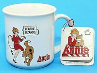 Little Orphan Annie Cup Mug Applause Ceramic Vintage 1982 Leapin Lizards NWT