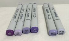 COPIC Sketch Alcohol Markers Purple Violet Lot of 6