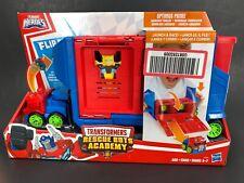 *NEW*Playskool Heroes Transformers Rescue Bots Academy Flip Racers Optimus Prime
