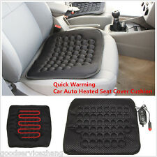 Quick Warming Car Auto Heated Seat Cover Cushion Comfort Relax Heater Black 12V
