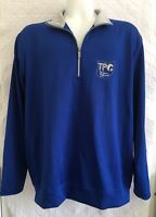 Antigua Men's Shirt Size XL TPC Golf 3/4 Zip Pull-over Long Sleeved Blue/Gray