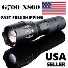 G700 X800 10000LM T6 LED Zoom Flashlight Tactical Torch Zoom Lamp Super Light