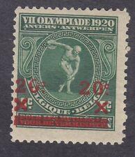 Belgium 1921 - 20c on 5c Green - SG309 - Mint Hinged (E11C)