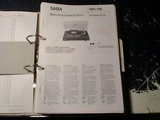 Saba Service Manual tocadiscos PSP 1, etc. 1 trozo escoger/choose 1 Piece