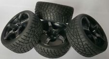 1/10 RC Car on road/rally/touring Wheels & Tyres x4 block tread