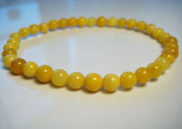 Genuine Round Butterscotch Amber Baltic Amber Bracelet  !!!