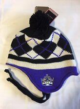 Los Angeles Kings Knit Beanie Toque Winter Hat Skull New NHL Ear Flap - Purple