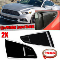 1/4 Quarter Side Window Scoop Louver Trim Cover For Ford Mustang 2DR Coupe 15-20