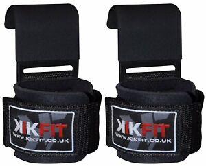 Weight Lifting Gym Training Hook Wrist Support Gripper Straps Gloves Bar Straps