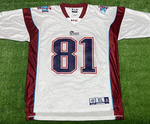 Mens Reebok New England Patriots Superbowl 42 XLII Randy Moss NFL Jersey Size XL