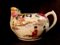 Vintage Japanese Nippon Hand Painted Porcelain Creamer geisha
