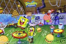 "SpongeBob SquarePants Reprint Signed 12x18"" Cast Poster RP Nickelodeon"
