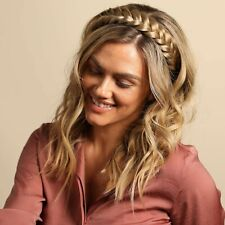 Madison Braids Braided Headband Womens Two Strand Braid Hair Extension - Halo
