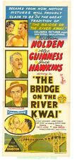 THE BRIDGE ON THE RIVER KWAI MOVIE POSTER Folded Stone Litho AUSTRALIAN Daybill