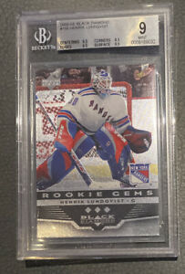 2005-06 Black Diamond Henrik Lundqvist Rookie Card BGS 9