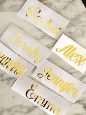 Vinyl Decal stickers Hangers champagne flutes  Bridal Gifts Water bottle Custom